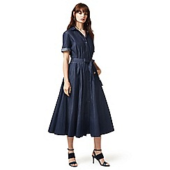 J by Jasper Conran - Dark blue denim shirt dress