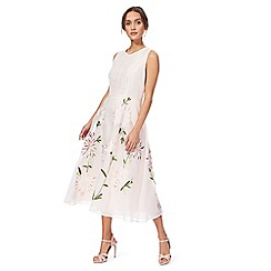 J by Jasper Conran - Pink floral embroidered tea dress