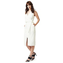 J by Jasper Conran - White wrap over shift dress