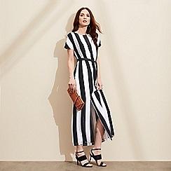 J by Jasper Conran - Navy and white striped maxi dress