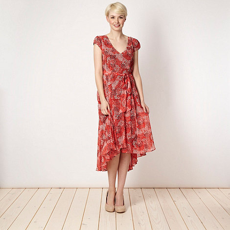 J by Jasper Conran - Designer red abstract tea dress