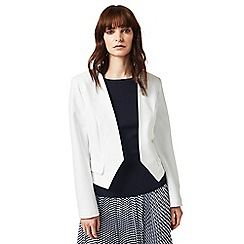 J by Jasper Conran - Ivory collarless jacket