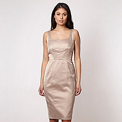J by Jasper Conran - Designer light gold satin bodycon dress
