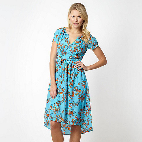 J by Jasper Conran - Designer turquoise blossom tea dress