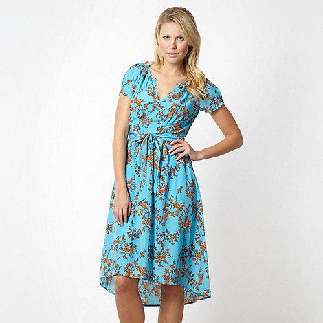 J by Jasper Conran - Designer turquoise blossom tea dress