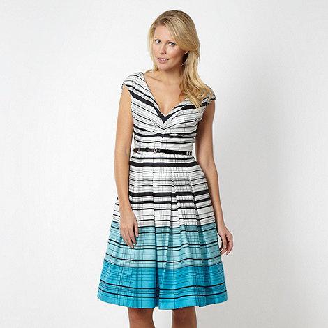 J by Jasper Conran - Designer white graduated striped prom dress