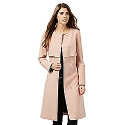 J by Jasper Conran - Light pink collarless coat