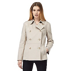 J by Jasper Conran - Natural pleated short mac jacket