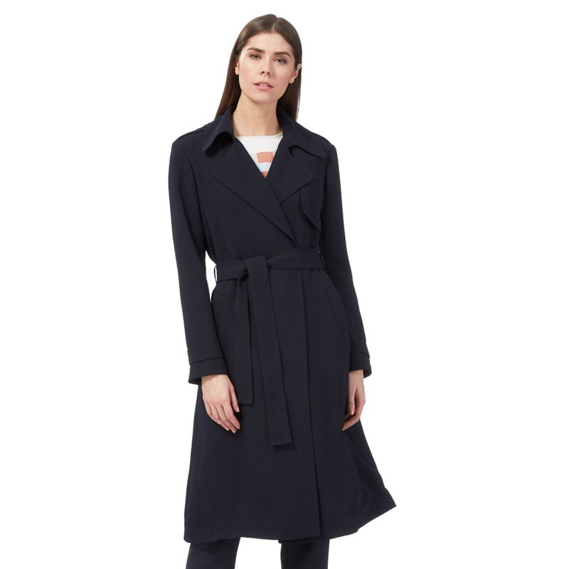 J by Jasper Conran Navy longline trench coat