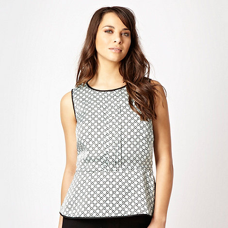 J by Jasper Conran - Aqua spotted peplum top