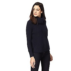 J by Jasper Conran - Navy cowl neck jumper