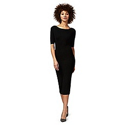 J by Jasper Conran - Black knitted rib dress