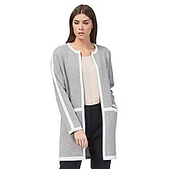 J by Jasper Conran - Grey tipped cardigan with wool