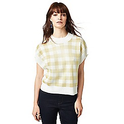 J by Jasper Conran - Yellow and white checked batwing jumper