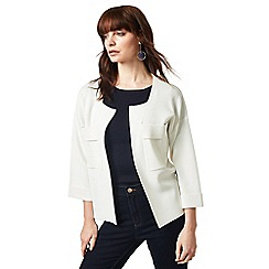 J by Jasper Conran - Ivory placket detail jacket