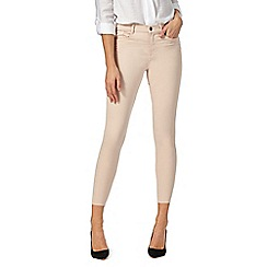 J by Jasper Conran - Pale pink ankle grazer slim fit jeans