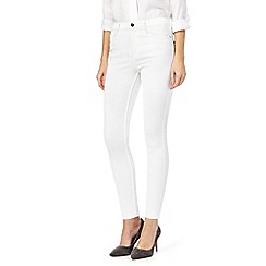 J by Jasper Conran - White 'The Ankle Grazer' jeans