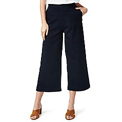 J by Jasper Conran - Navy wide leg denim cropped trousers