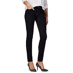 J by Jasper Conran - Blue slim high-waist denim jeans