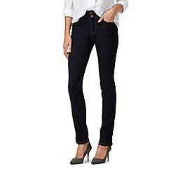 J by Jasper Conran petite - Dark blue high waisted straight fit petite jeans