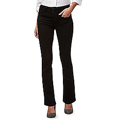 J by Jasper Conran - Black high waisted bootcut petite jeans