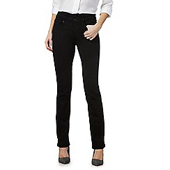 J by Jasper Conran - Black bootcut high waisted jeans