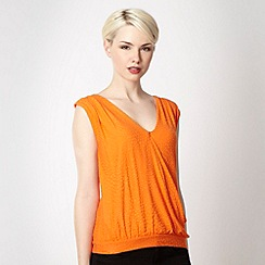 J by Jasper Conran - Designer orange textured top