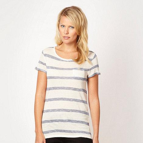 J by Jasper Conran - Designer blue striped pocket top - size 18