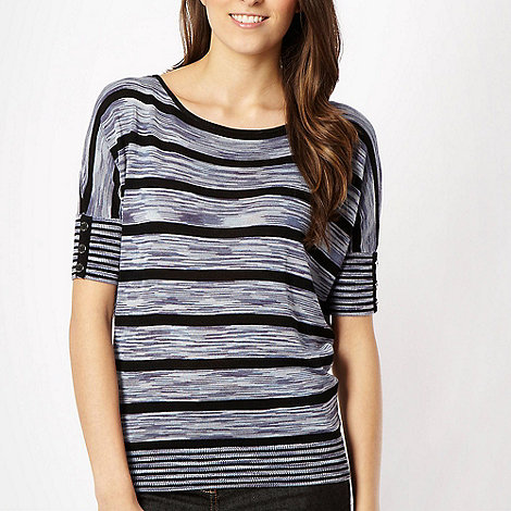 J by Jasper Conran - Blue spacedye striped jumper