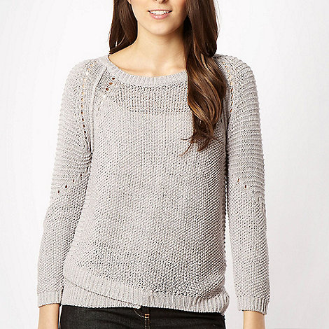 J by Jasper Conran - Mauve knit jumper