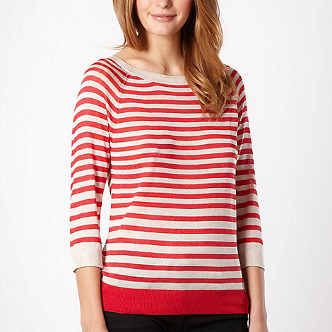 J by Jasper Conran - Red striped cut out jumper