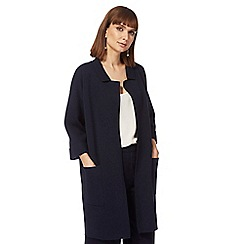 J by Jasper Conran - Navy reverse collar coatigan
