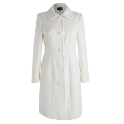 Petite Collection Petite white twill coat product image