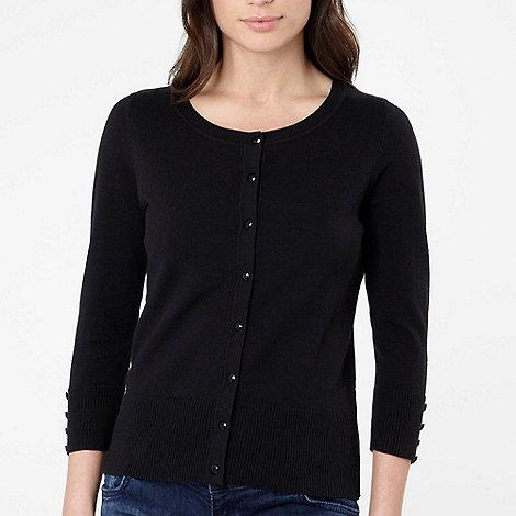 The Collection Petite - Petite black plain button cardigan
