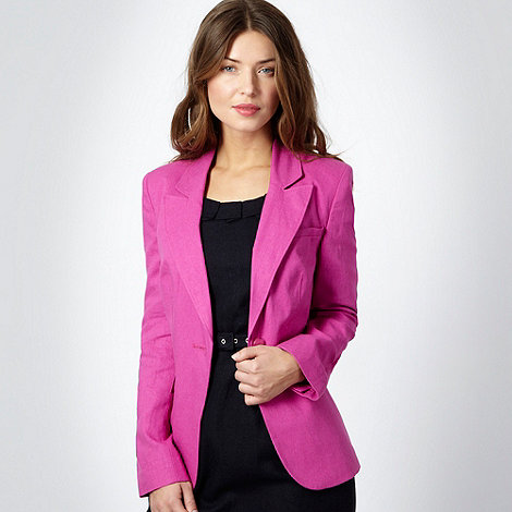 The Collection Petite - Petite bright pink linen blend blazer