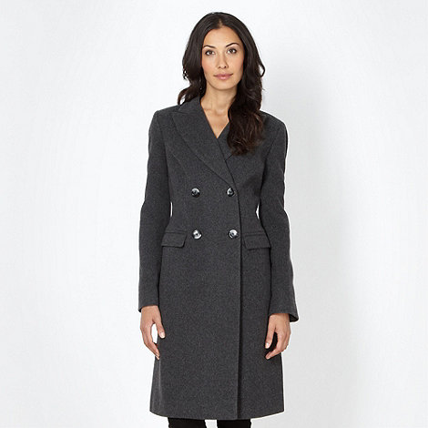 The Collection Petite - Petite grey wool blend coat