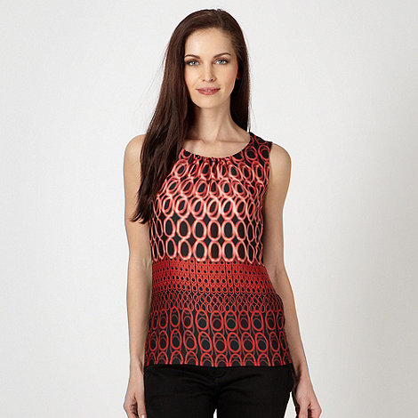 The Collection Petite - Petite coral woven ring patterned top