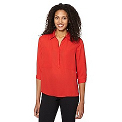 The Collection Petite - Red mock pocket petite shirt