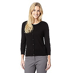 The Collection Petite - Petite black crew neck petite cardigan