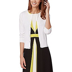 The Collection Petite - White crew neck petite cardigan