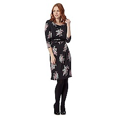 The Collection Petite - Petite Black cherry blossom dress