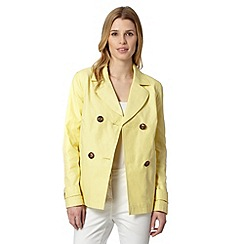 The Collection Petite - Petite light yellow short mac coat