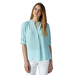 The Collection Petite - Petite pale blue crepe top