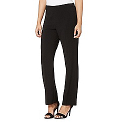 The Collection Petite - Petite black straight leg trousers