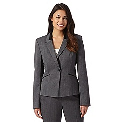 The Collection Petite - Grey textured suit jacket
