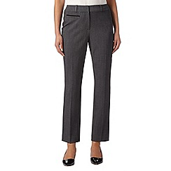 The Collection Petite - Grey textured suit trousers