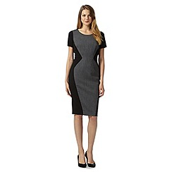 The Collection Petite - Petite grey textured panel shift dress