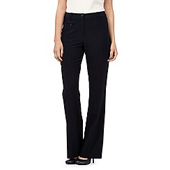 The Collection Petite - Navy bootcut trousers