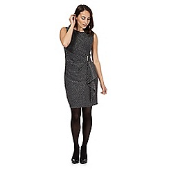 The Collection Petite - Grey sleeveless sparkle dress