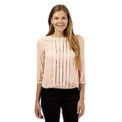 The Collection Petite - Light pink pleat front petite top